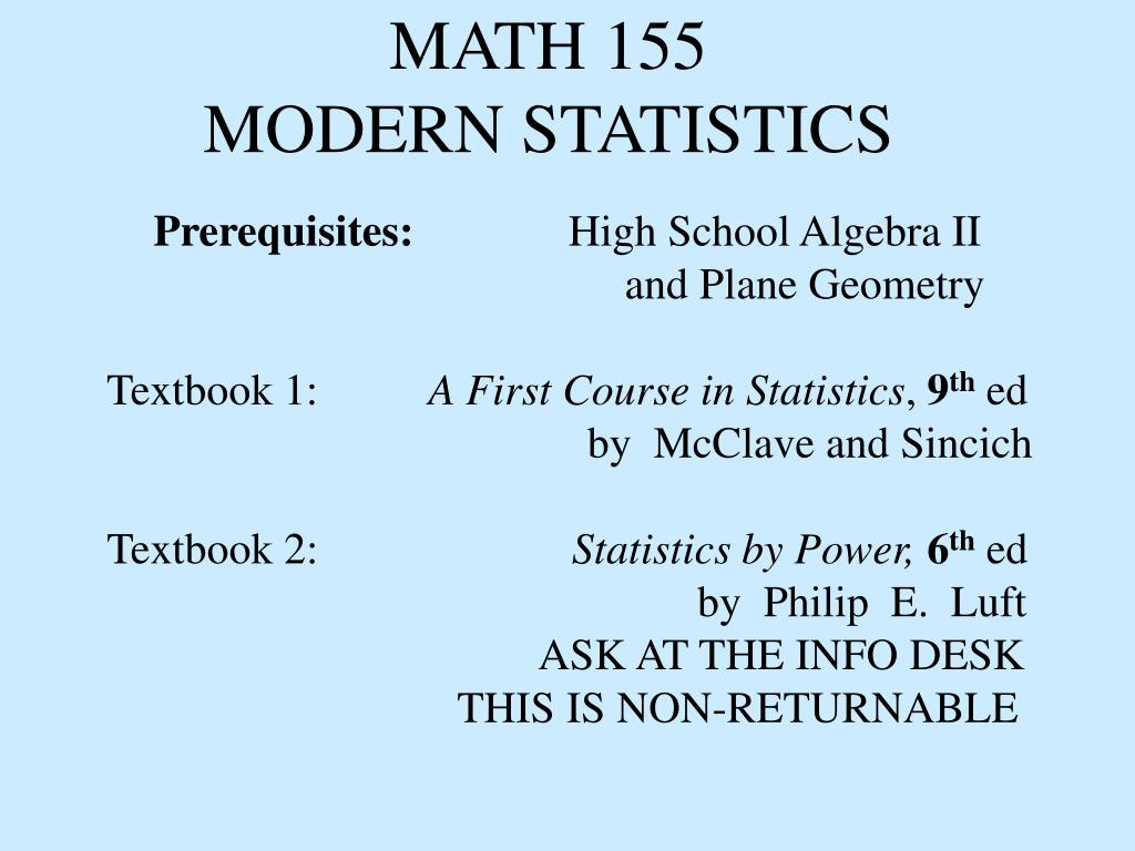 math 155 modern statistics l.