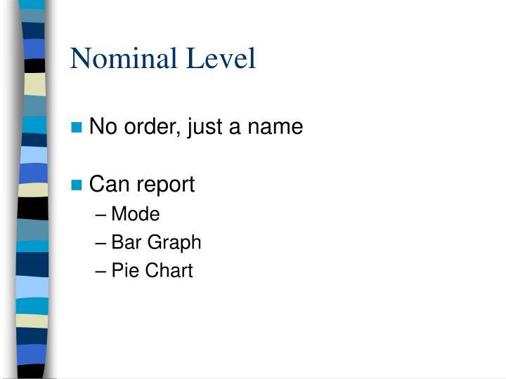 Nominal level