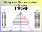 histogram of numbers of males vs females32