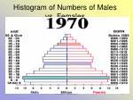 histogram of numbers of males vs females34