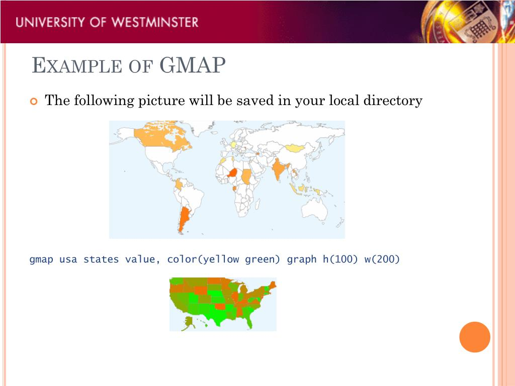 Example of GMAP