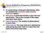 terms related to frequency distribution