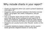 why include charts in your report