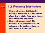 1 2 frequency distributions