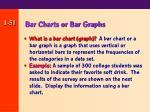 bar charts or bar graphs