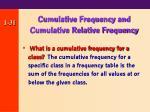 cumulative frequency and cumulative relative frequency31