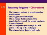frequency polygons observations