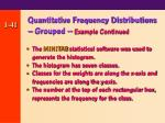 quantitative frequency distributions grouped example continued41