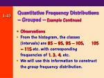 quantitative frequency distributions grouped example continued43