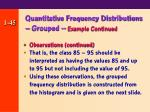 quantitative frequency distributions grouped example continued45