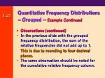 quantitative frequency distributions grouped example continued47