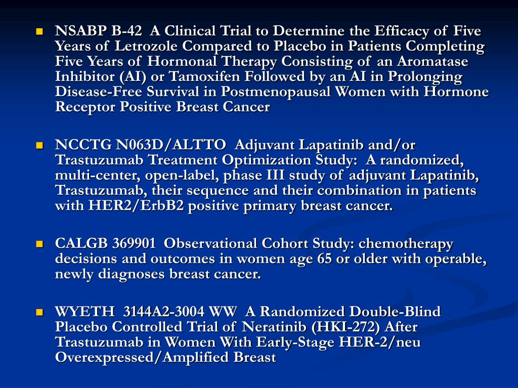 NSABP B-42  A Clinical Trial to Determine the Efficacy of Five Years of Letrozole Compared to Placebo in Patients Completing Five Years of Hormonal Therapy Consisting of an Aromatase Inhibitor (AI) or Tamoxifen Followed by an AI in Prolonging Disease-Free Survival in Postmenopausal Women with Hormone Receptor Positive Breast Cancer