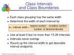 class intervals and class boundaries