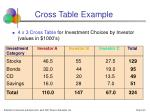 cross table example