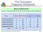 the cumulative frequency distribuiton