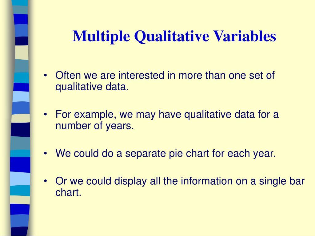 Multiple Qualitative Variables