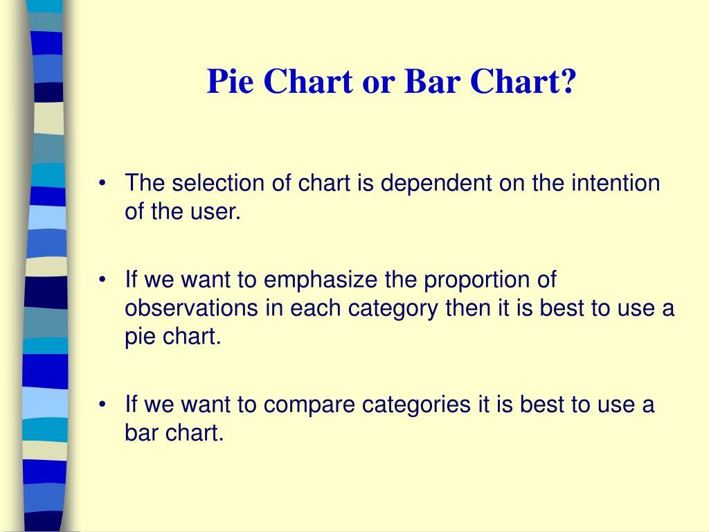 Pie Chart or Bar Chart?