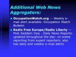 additional web news aggregators