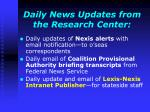 daily news updates from the research center