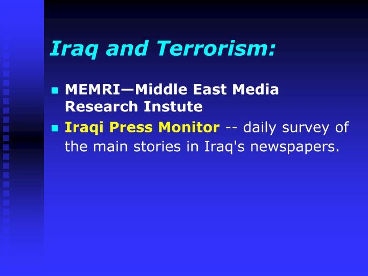 Iraq and Terrorism: