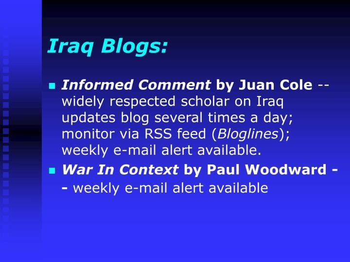 Iraq Blogs: