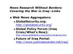 news research without borders covering the war in iraq links1