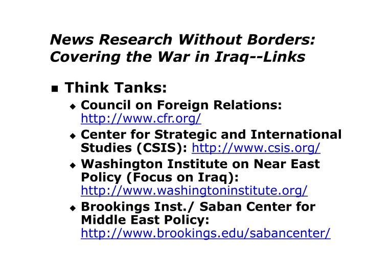 News Research Without Borders: