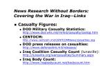 news research without borders covering the war in iraq links7