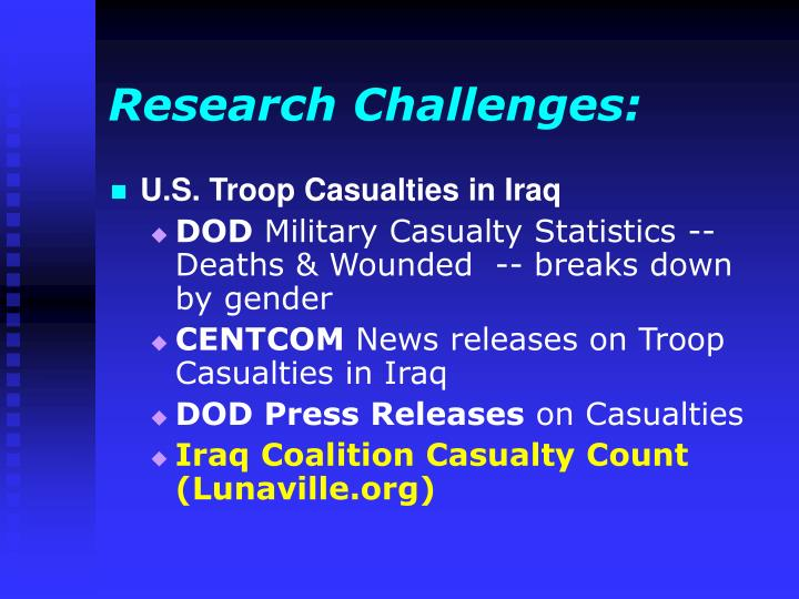 Research Challenges: