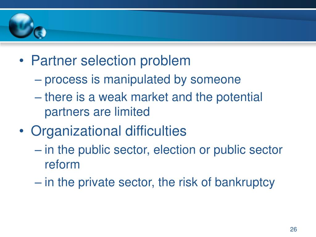 Partner selection problem