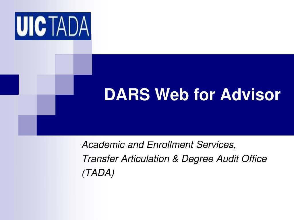 dars web for advisor l.
