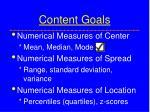 content goals