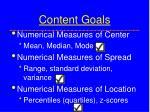 content goals24