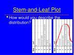 stem and leaf plot8