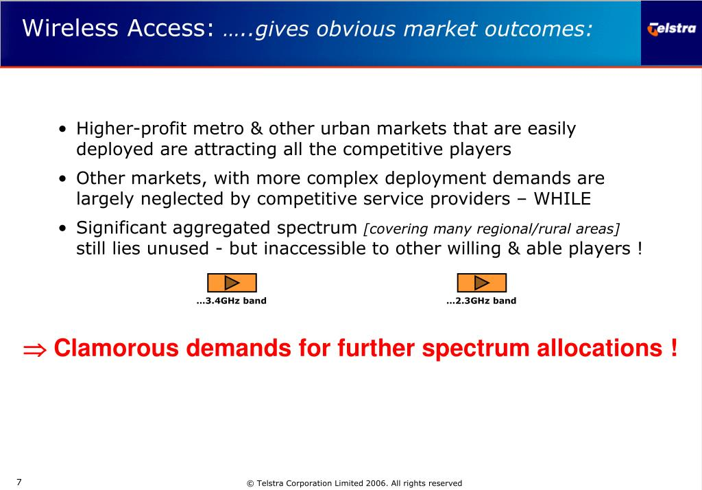 Higher-profit metro & other urban markets that are easily deployed are attracting all the competitive players