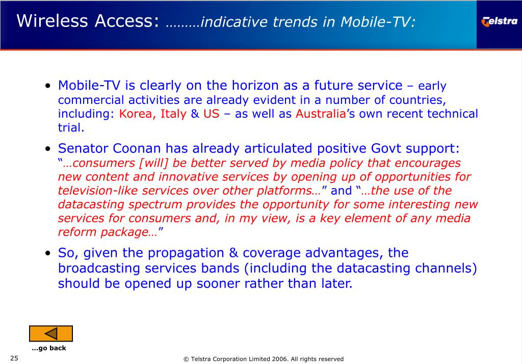 Mobile-TV is clearly on the horizon as a future service