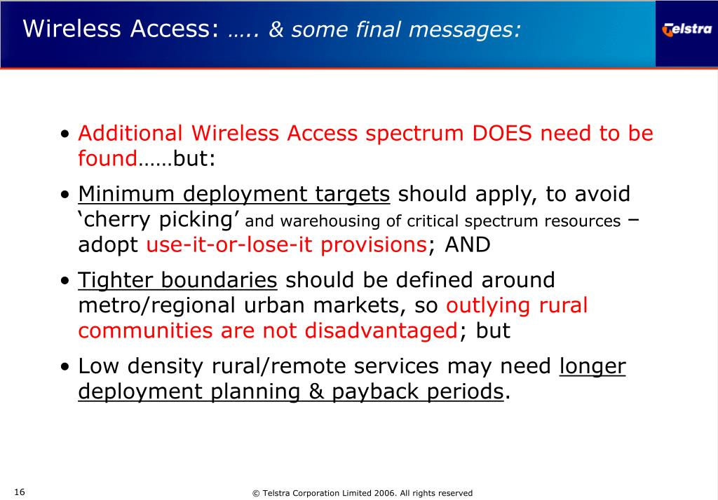 Additional Wireless Access spectrum DOES need to be found