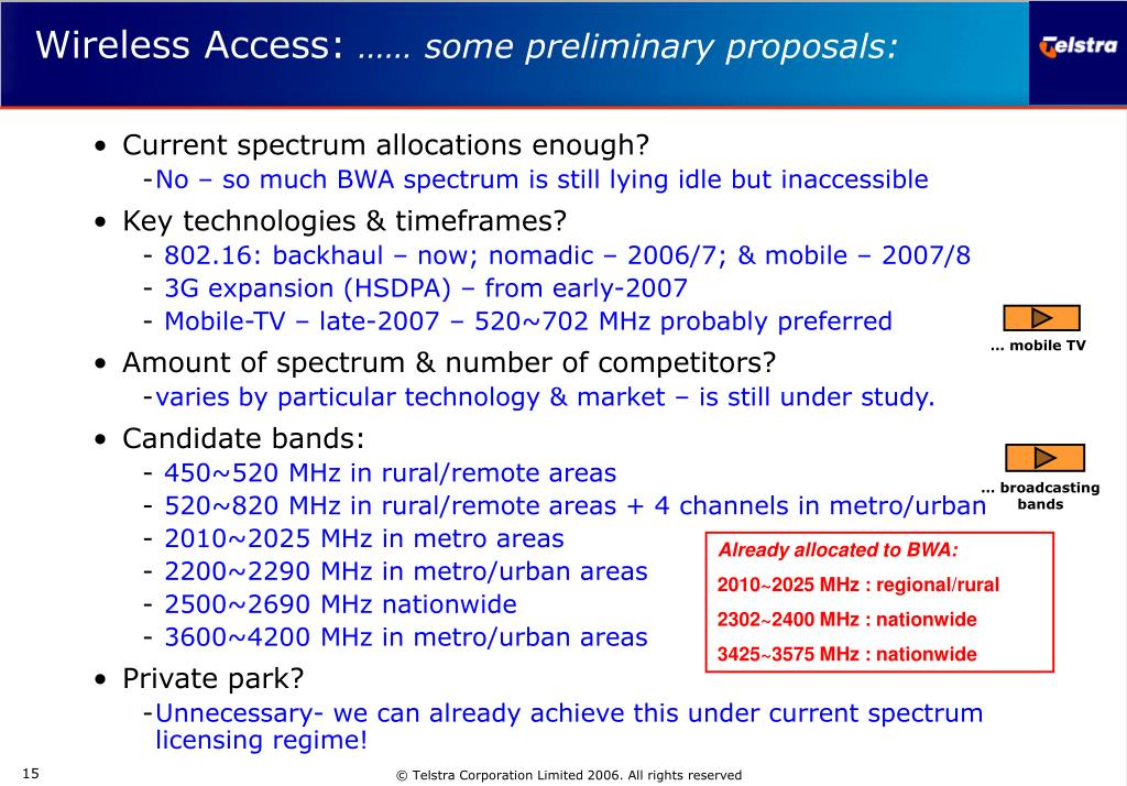 Current spectrum allocations enough?