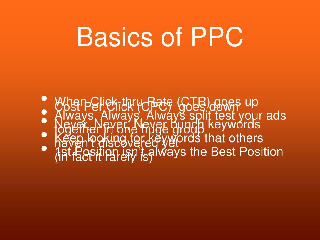 Basics of PPC