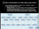 relationships to the organization5