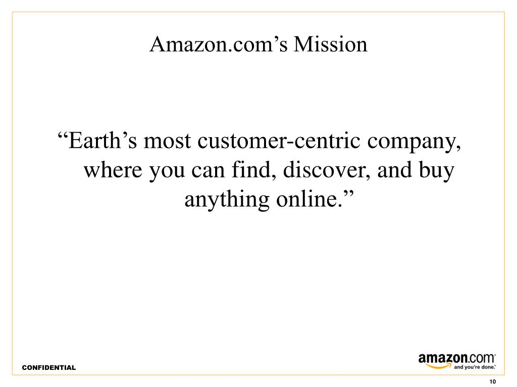 Amazon.com's Mission
