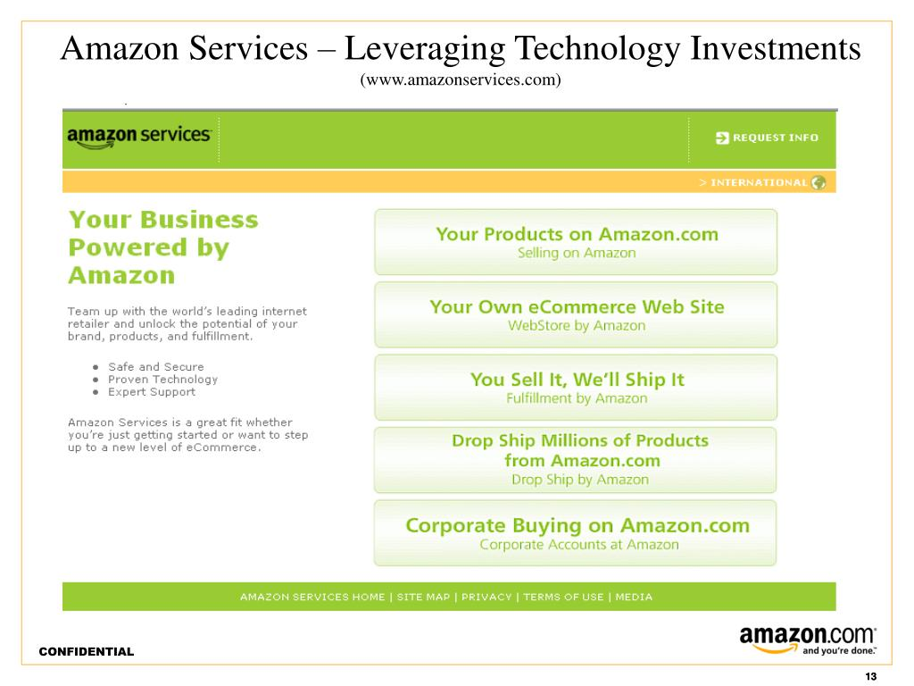 Amazon Services – Leveraging Technology Investments