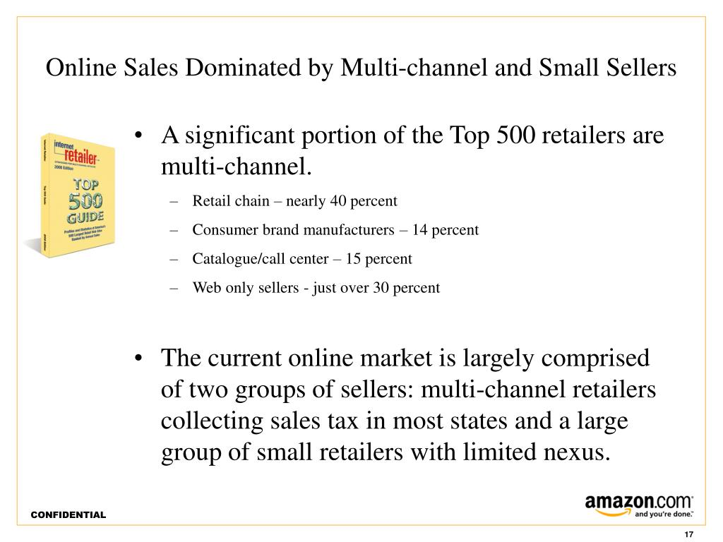 Online Sales Dominated by Multi-channel and Small Sellers