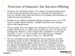 overview of amazon s tax services offering
