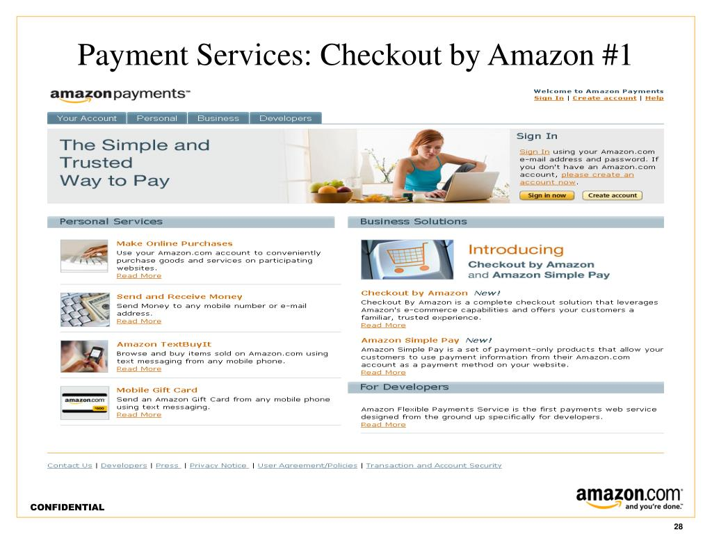 Payment Services: Checkout by Amazon #1