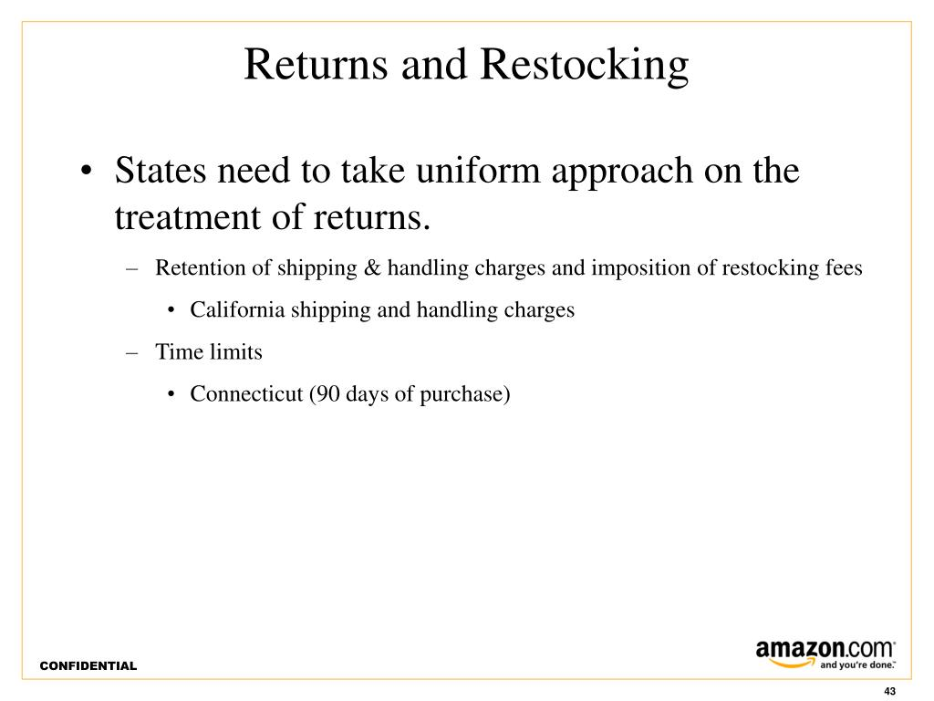 States need to take uniform approach on the treatment of returns.