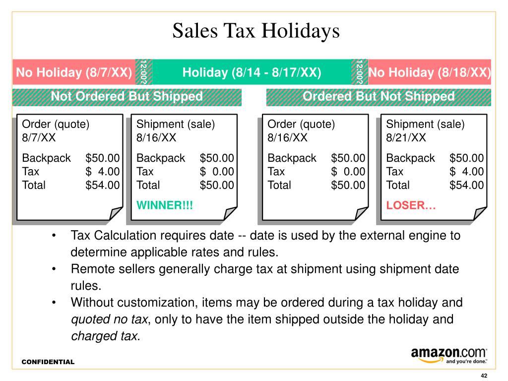 Sales Tax Holidays