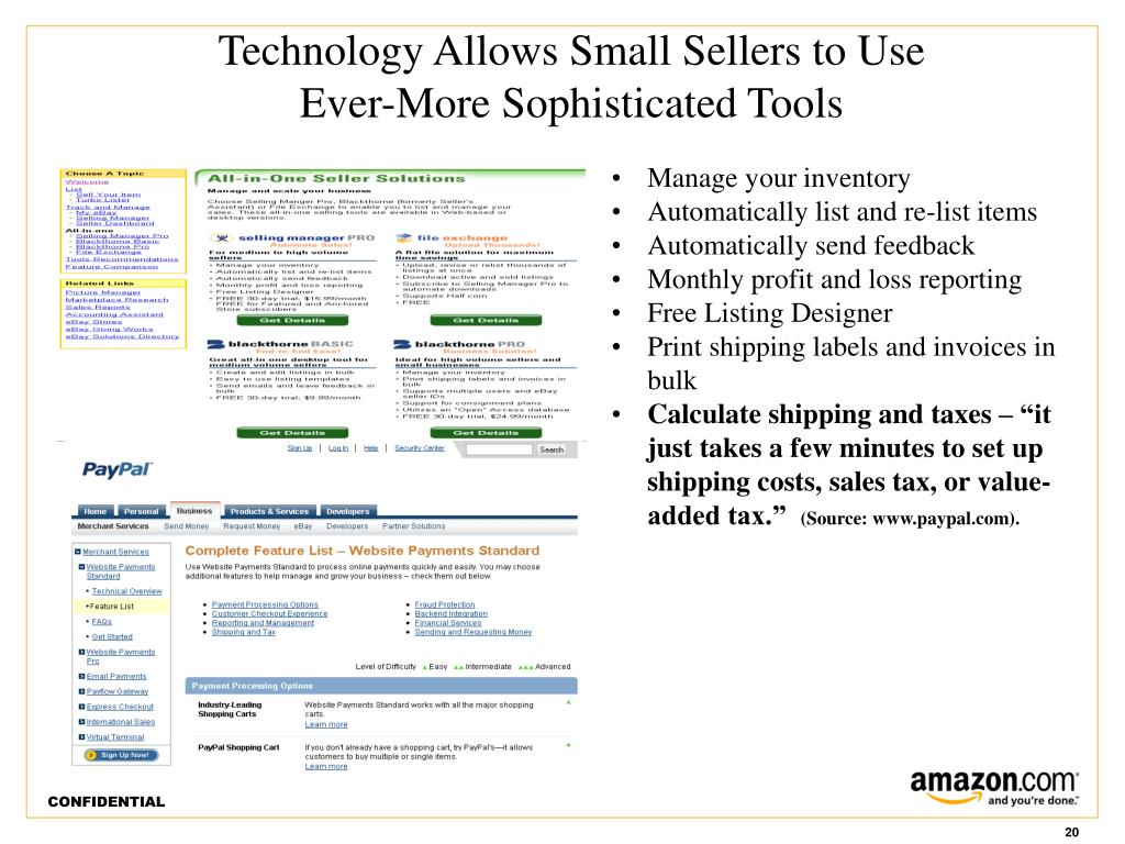 Technology Allows Small Sellers to Use