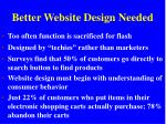 better website design needed