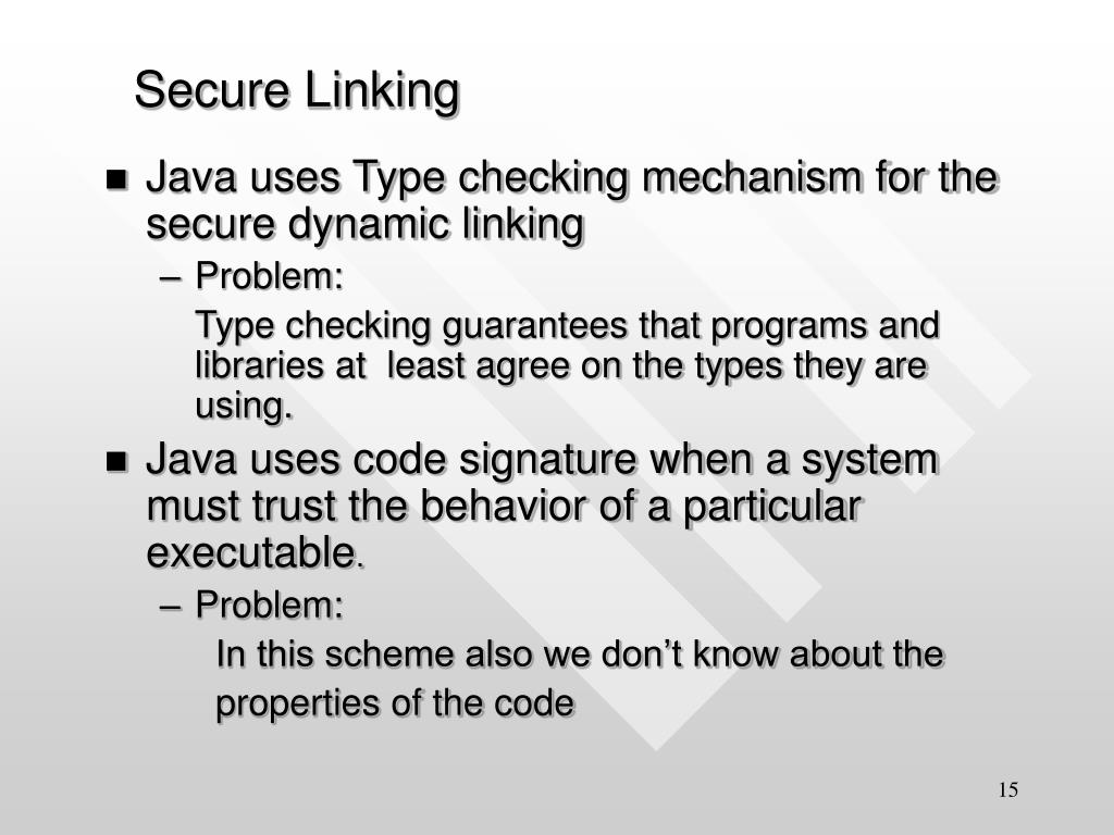 Secure Linking